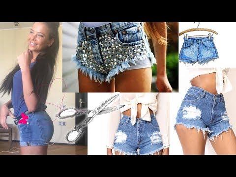 Как из джинс сделать модные рваные шорты (DIY Tutorial How to make shorts from the jeans)