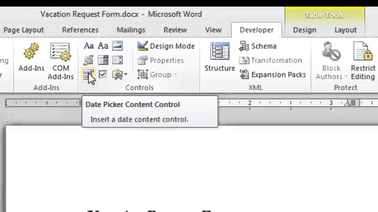 How To Make A Fillintheblank Form With Microsoft Word 2010 : Microsoft  Word Doc Tips