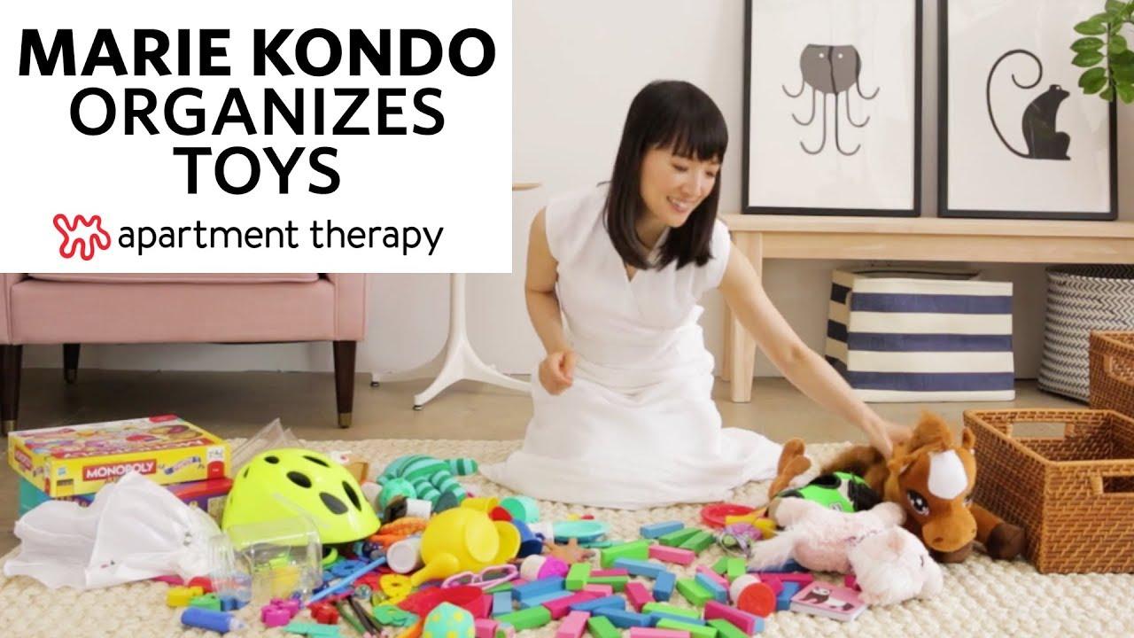 Marie Kondo Organizes Toys Apartment Therapy