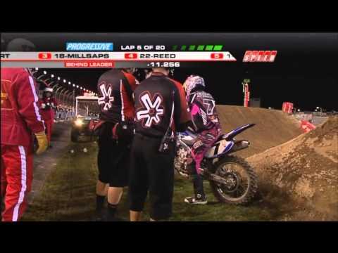 James Stewart Clearing Wall Jump + Crash Daytona Supercross 2011 HD