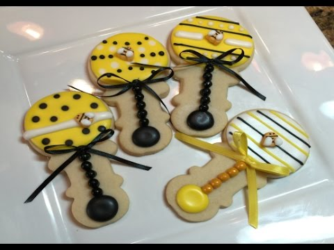 Baby Shower Rattle Cookies How To Mommy Bee