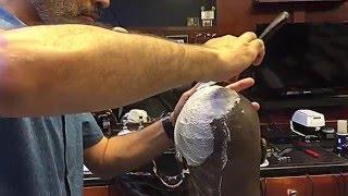 Straight Razor Head Shave by Farzad at Farzad's Barber Shop