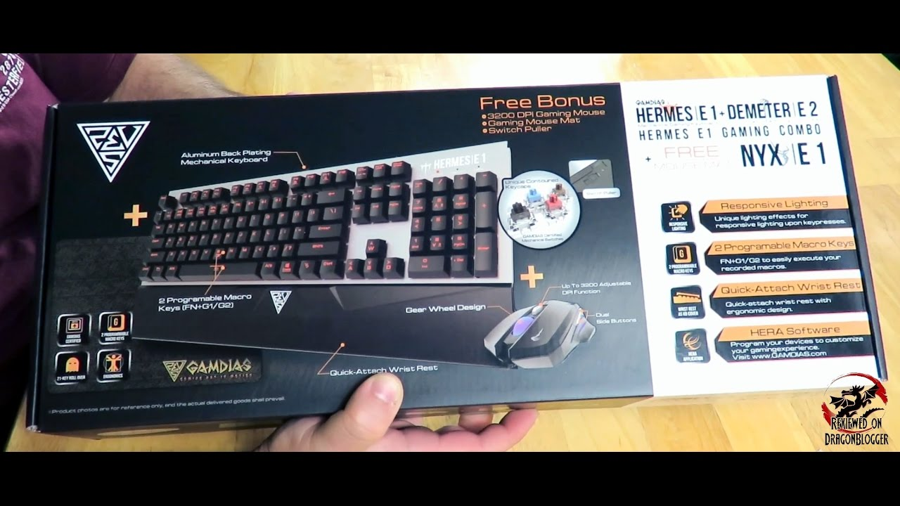 5b0d3b5fbee Unboxing and overview of the Gamdias Hermes E1 Gaming Combo (keyboard,  Mouse and Mouse pad)