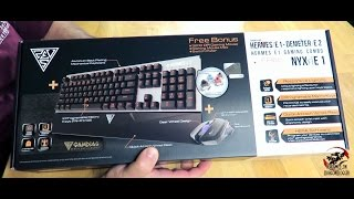 Unboxing and overview of the Gamdias Hermes E1 Gaming Combo (keyboard, Mouse and Mouse pad)