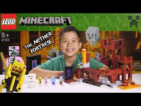THE NETHER FORTRESS - LEGO MINECRAFT Set 21122 - Unboxing, Review, Time-Lapse Build