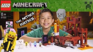 THE NETHER FORTRESS - LEGO MINECRAFT Set 21122 - Unboxing, Review, Time-Lapse Build thumbnail