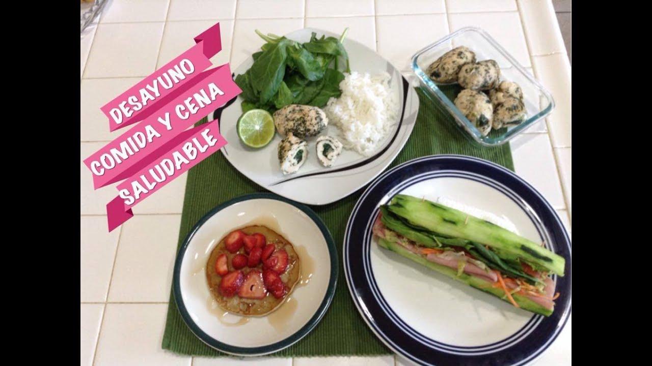 Come saludable desayuno comida y cena super facil y muy for Comidas y cenas saludables