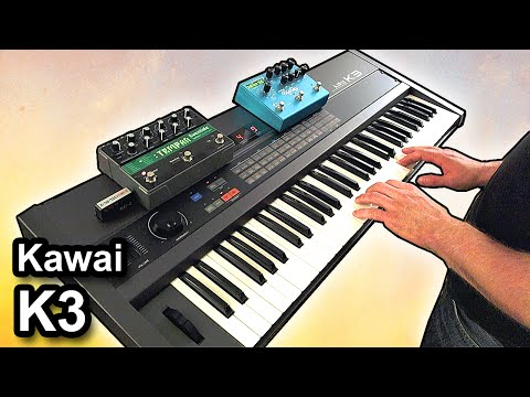 KAWAI K3 synth - Ambient piano music soundscape 【SYNTH DEMO】