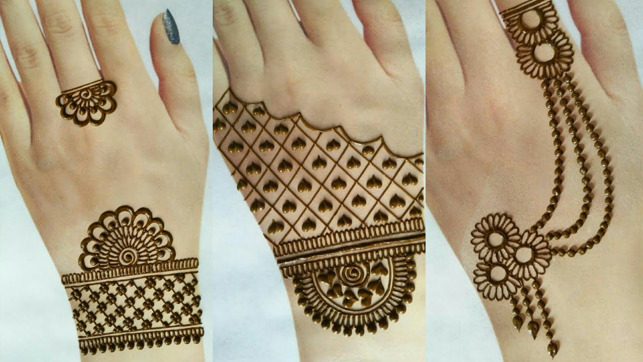 Beautiful collection of mehndi designs | Top jewellery mehndi designs for back hand 2020