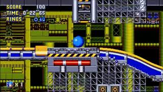 "Sonic Mania (PC) - Chemical Plant 1 Sonic: 33""36 (Speed Run)"