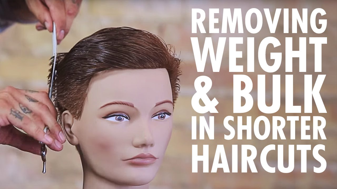 Texturizing Technique For Weight Bulk Removal In Shorter Haircuts