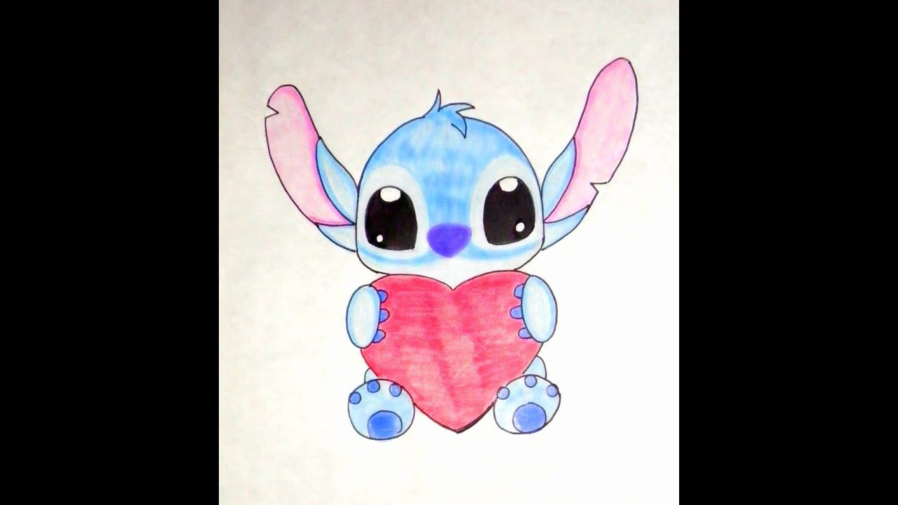 Dibujar Un Stitch Facil Y Rapido Tierno Stitchs Youtube