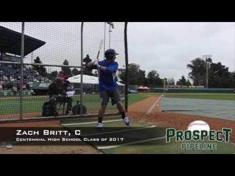 Zach Britt, C, Centennial  High School, Swing Mechanics at 200 FPS