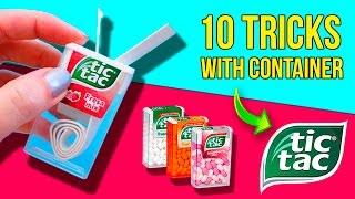 TOP 10 Container TIC TAC Life Hacks 🤓 Super EASY Tricks with TIC TAC
