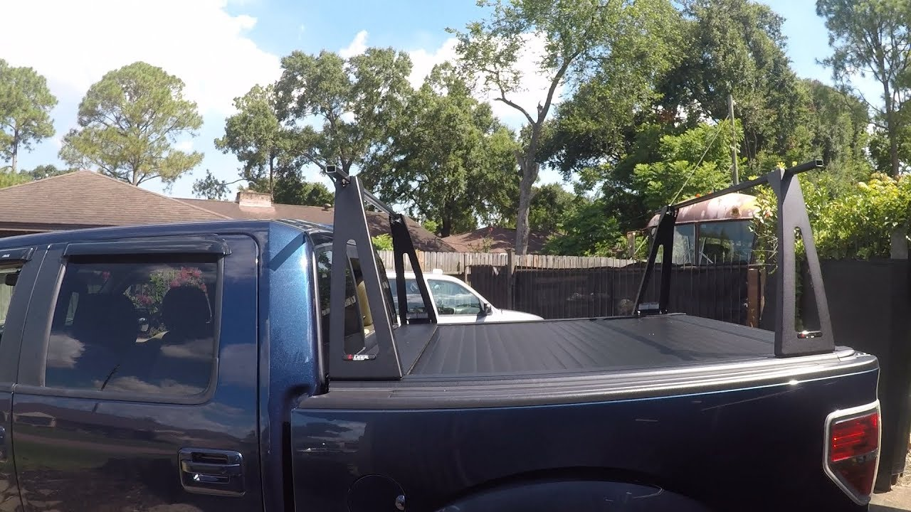 F 150 Install Removable Ladder Rack On Tonneau Bed Cover Youtube