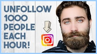 HOW TO UNFOLLOW PEOPLE ON INSTAGRAM FAST AUTOMATICALLY 2017 - Instagram unfollow app