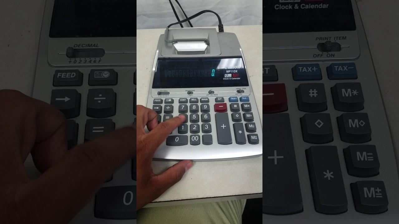 canon mp11dx clock calendar printing calculator youtube rh youtube com Canon Mp20dhii Ribbon canon mp11dx user guide