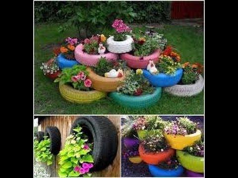 Como hacer un jardin con llantas youtube - Hacer un jardin ...
