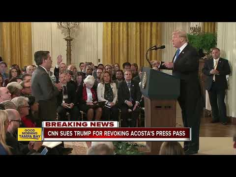 CNN sues President Trump for banning Acosta