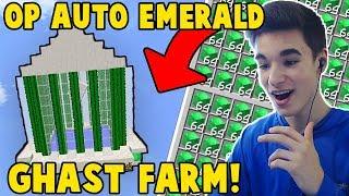 OP AUTO AFK EMERALD GHAST FARM! *HOW TO*   Minecraft Skyblock (PvpWars)