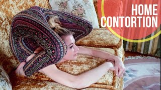 Home Contortion. Extreme Stretching.
