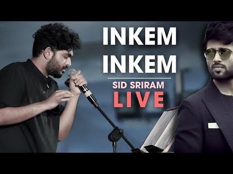 Inkem Inkem Inkem Kavale live by Sid Sriram | Rhythm 2019