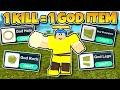 1 KILL = 1 GOD ITEM *CHALLENGE!* (ROBLOX BOOGA BOOGA)