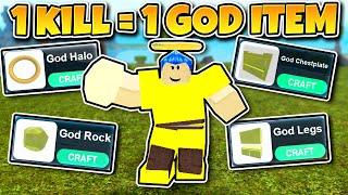 1 KILL = 1 GOD ITEM *CHALLENGE!* (ROBLOX BOOGA BOOGA)