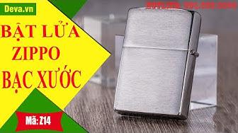 Deva Shop l Zippo Reg Brush Fin Chrome Z14 l Giá: 550.000 Đ