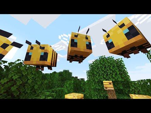 В майнкрафт добавили пчел!