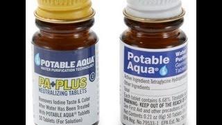 Potable Aqua Water Purification Bottle Kit Review