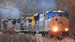 CSX Q410 Had a Train Engine On Fire & Two Broken Knuckles