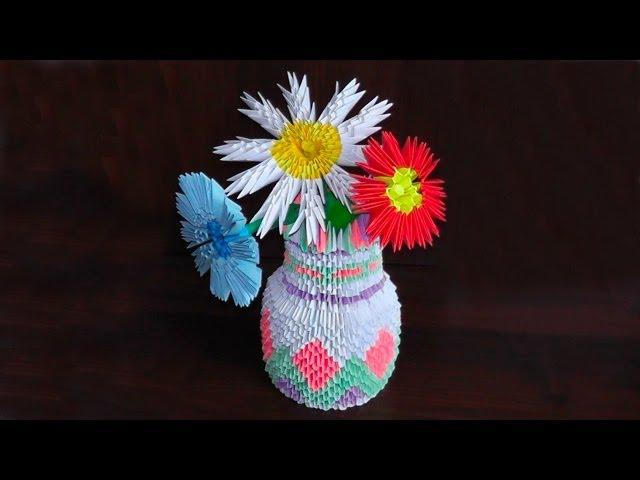 Модульное оригами ваза для