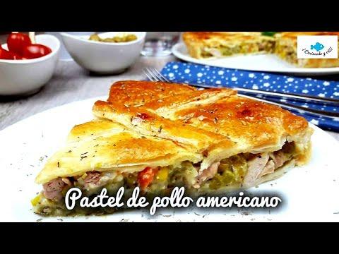 PASTEL de POLLO AMERICANO. American chicken pie. RECETA MUY FÁCIL