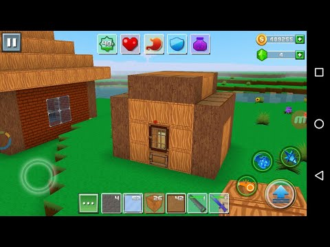 Exploration Lite Craft'CanadaDroid'Android Gameplay #1 | Learn How To Make A Beautiful Wooden Hut |