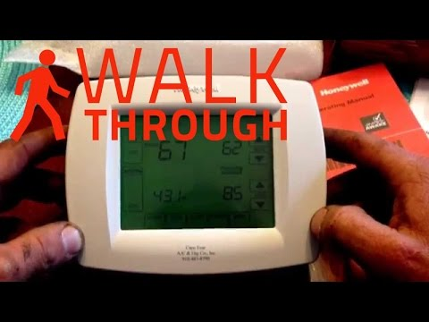 HVAC Controls: How To On User Features Honeywell VisionPRO 8000 Thermostat Video TH8321