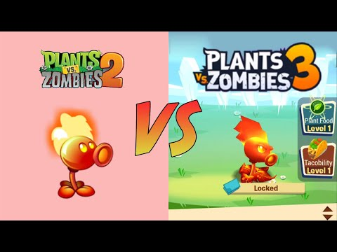 Plants vs Zombies 3 vs Plants vs Zombies 2 - Plant Characters Comparison