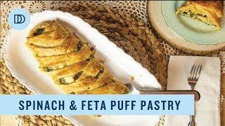Spanakopita Puff Pastry Braid (Spinach & Feta Pastry)