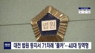대전 법원 등지서 71차례 몰카 40대 징역형 집행유예…