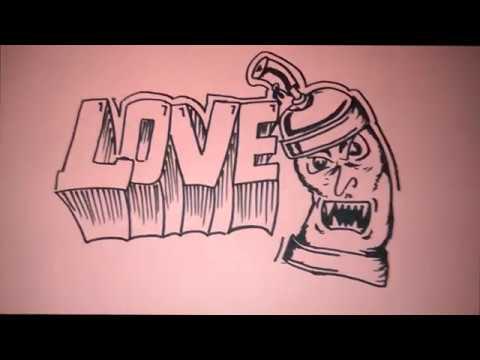 Cara gambar grafiti LOVE dan PILOXS mudah