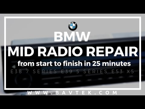 BMW X5 540i MID Repair Instructional DIY Video with Carbon Ribbon from Start to Finish