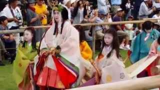 20150515 上茂賀神社(葵祭)-齋王代進神社