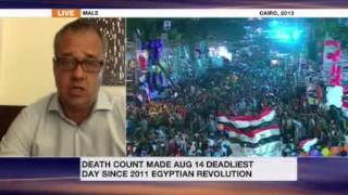 Toby Cadman speaking on Al Jazeera English about Rabaa Massacre and Al-Sisi visit to London