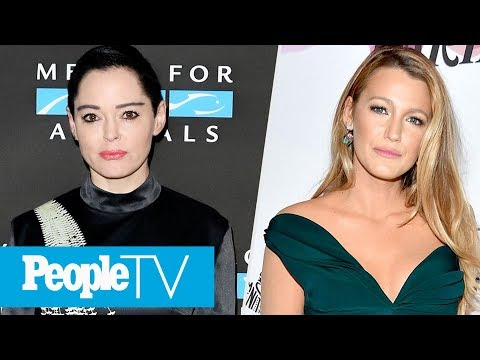 Rose McGowan Claims Harvey Weinstein Raped Her, Blake Lively On Being Sexually Harassed  PeopleTV