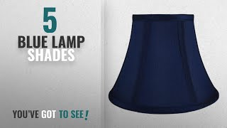 Top 10 Blue Lamp Shades [2018 ]: Urbanest Softback Bell Lampshade, Faux Silk, 5-inch by 9-inch by