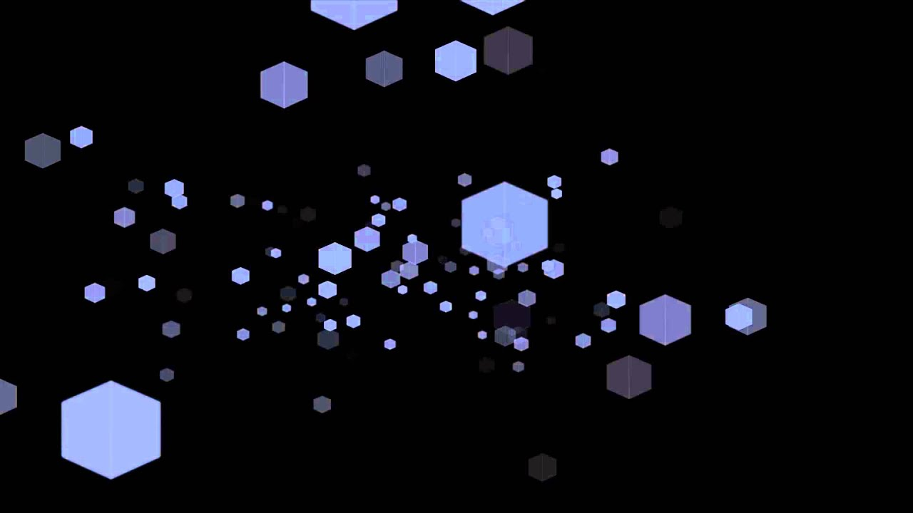 hexagon particles falling background