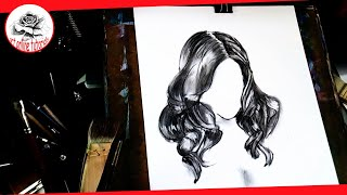 How to draw girls hair step by step  Charcoal drawing Techniques: Drawing the Easy Way
