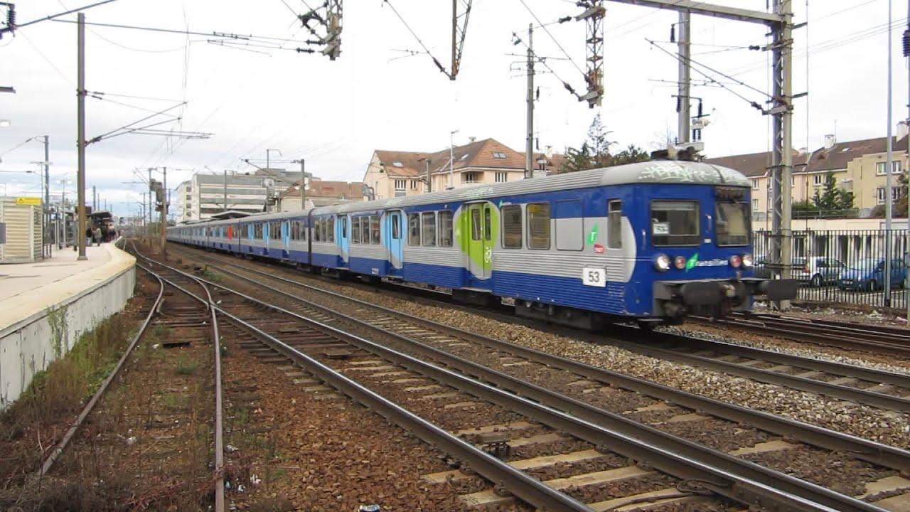 Paris bb17000 rib mala poissy ligne j transilien youtube - Transilien prochain train ...