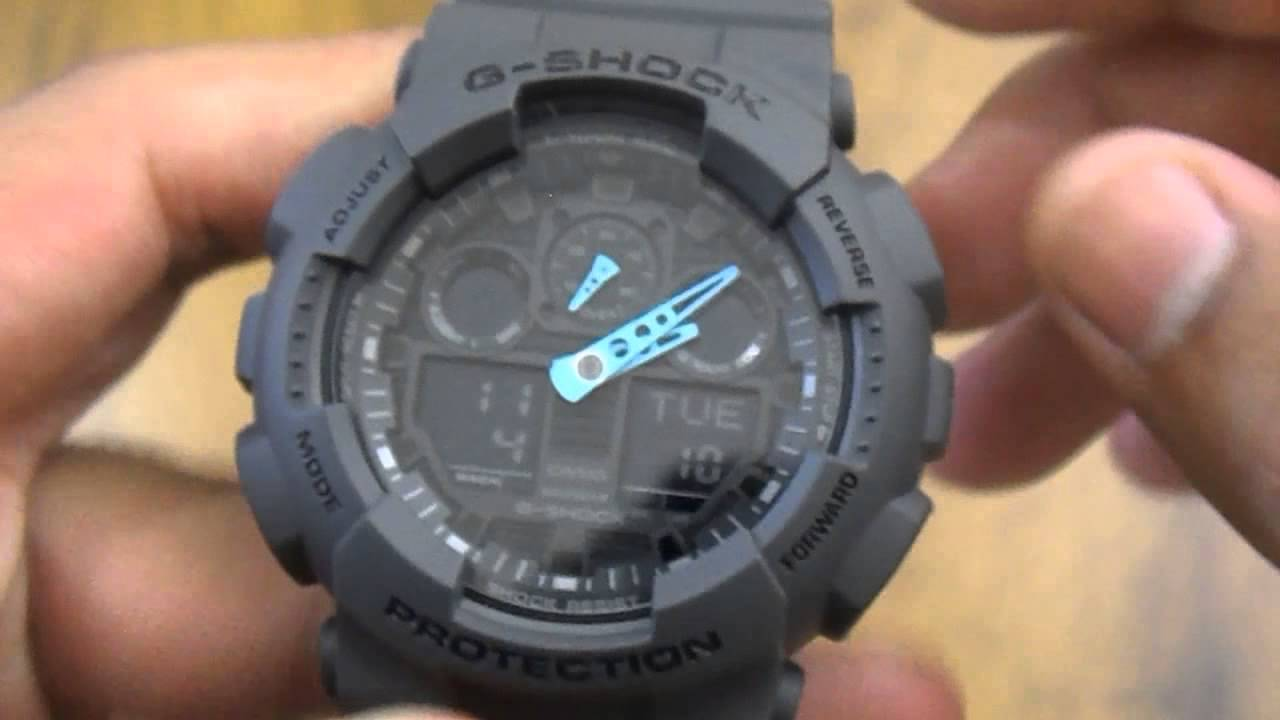 e6f234c9da0 Relógio Casio G-shock Ga-100c-8adr - YouTube