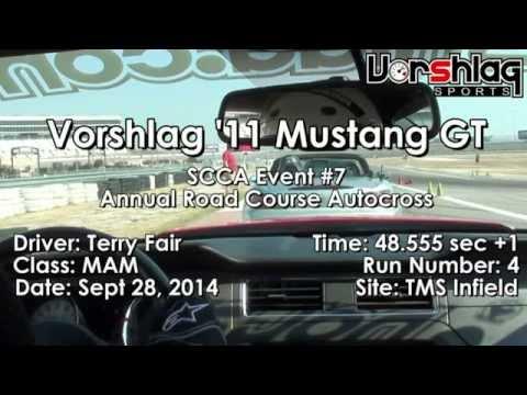 "Vorshlag at Texas Motor Speedway ""Road Course Autocross"", SCCA, Sept 28, 2014"